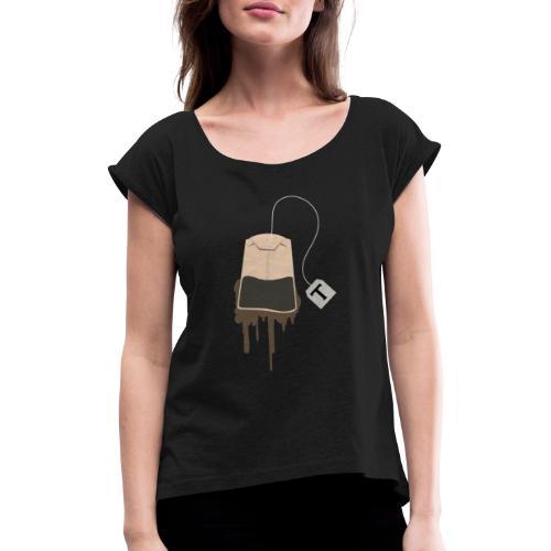 Tea-Shirt - Frauen T-Shirt mit gerollten Ärmeln