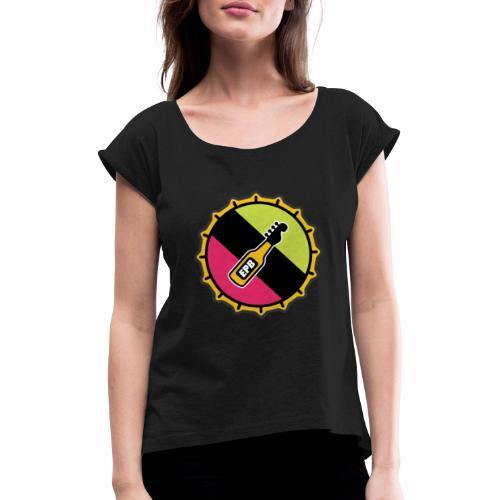 Kapsyl - T-shirt med upprullade ärmar dam