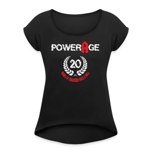 Powerage 20th Aniversary - Frauen T-Shirt mit gerollten Ärmeln