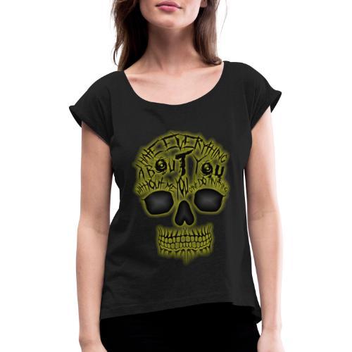 Hate everything - T-shirt à manches retroussées Femme