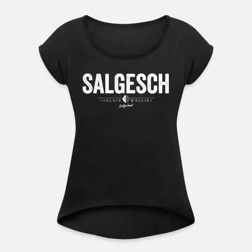 SALGESCH - Frauen T-Shirt mit gerollten Ärmeln