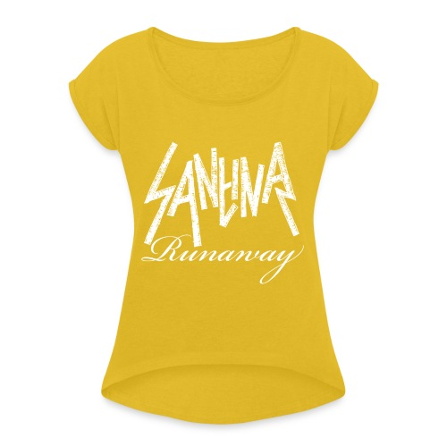 SANTINA gif - Women's T-Shirt with rolled up sleeves