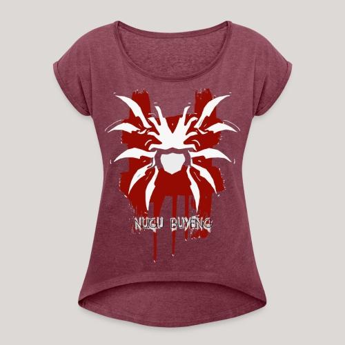 Cissaronid 1 Nugu Buyeng - Frauen T-Shirt mit gerollten Ärmeln
