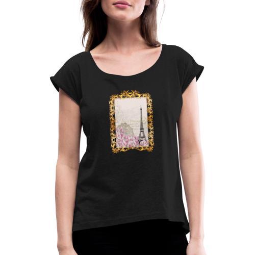 MonkeyShy I Love Paris - T-shirt à manches retroussées Femme