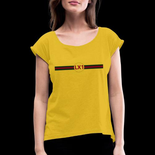 Wicci - T-shirt med upprullade ärmar dam