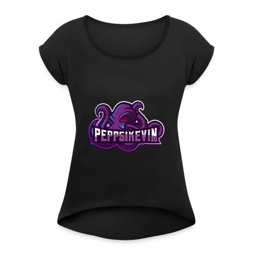 PeppsiKevin Twitch Logo - T-shirt med upprullade ärmar dam