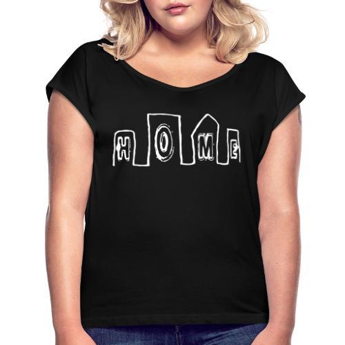 home - T-shirt à manches retroussées Femme
