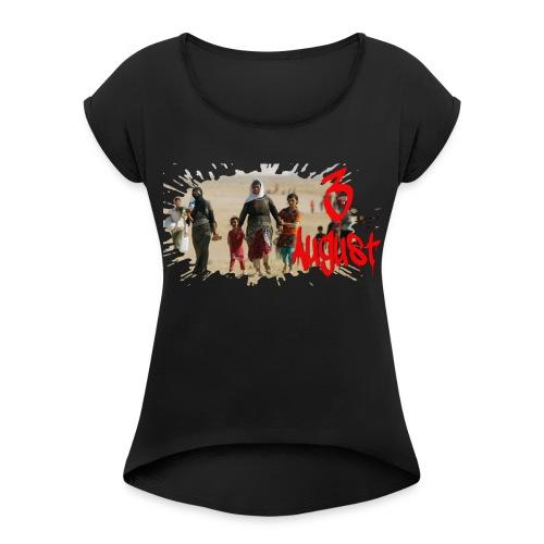 3 8 2014 gif E - Frauen T-Shirt mit gerollten Ärmeln