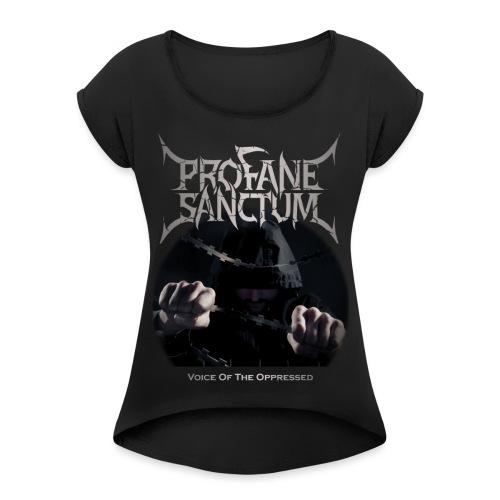 Voice of the Oppressed Album Art - Frauen T-Shirt mit gerollten Ärmeln