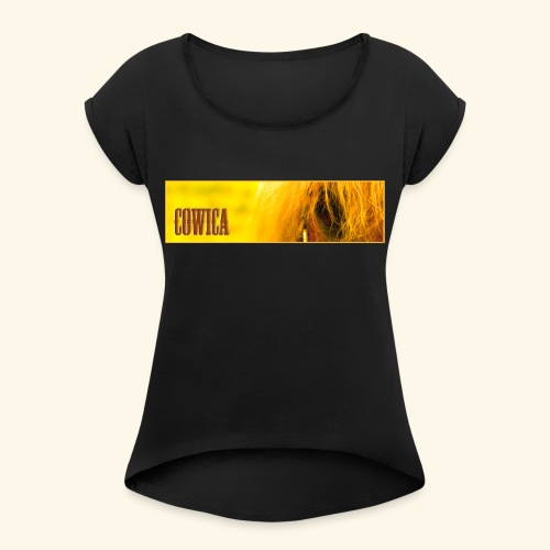 COWICA 1 - Women's T-Shirt with rolled up sleeves