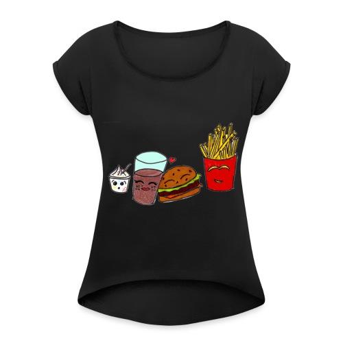 mcdo png - T-shirt à manches retroussées Femme