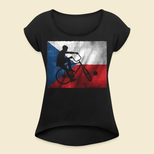 Radball | Flagge Tschechien - Frauen T-Shirt mit gerollten Ärmeln