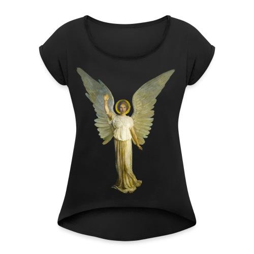 angel - Maglietta da donna con risvolti