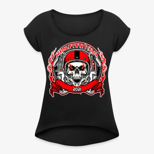 Harleysti Italia Design Ufficiale Collezione 2021 - Maglietta da donna con risvolti