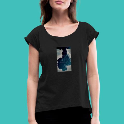 551c624d64be7262d82c4c694dbdbd3d hd iphone wallpap - T-shirt med upprullade ärmar dam
