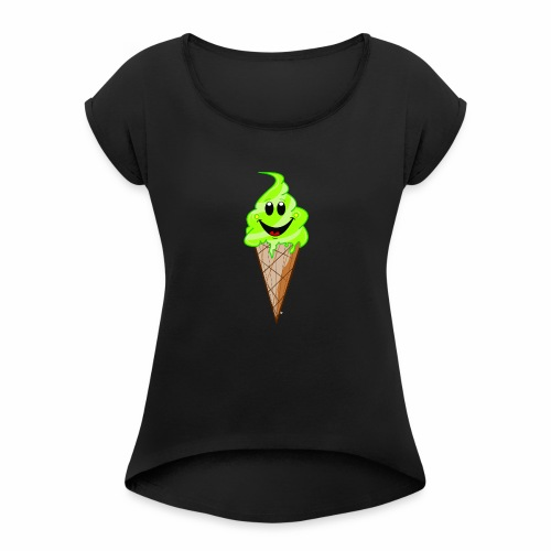 Mr./ Ms. Pistachio - Vrouwen T-shirt met opgerolde mouwen