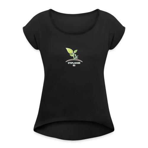 UteplassenUB - T-skjorte med rulleermer for kvinner