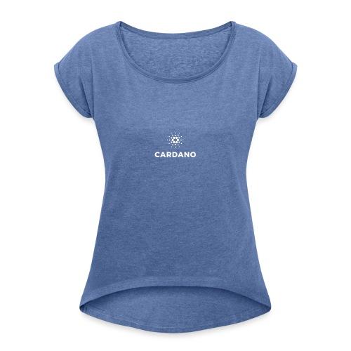 ADA - Koszulka damska z lekko podwiniętymi rękawami