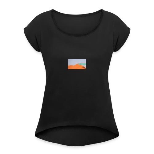 0001 4335609429 - T-shirt med upprullade ärmar dam