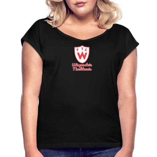 Wappen - Frauen T-Shirt mit gerollten Ärmeln