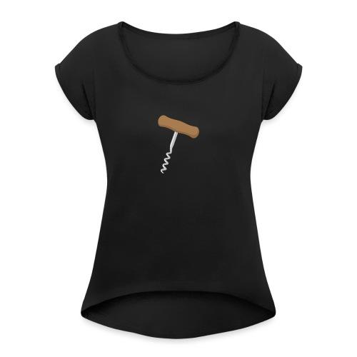 Kurkentrekker - Vrouwen T-shirt met opgerolde mouwen