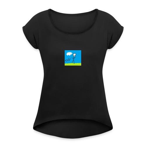 art - Vrouwen T-shirt met opgerolde mouwen