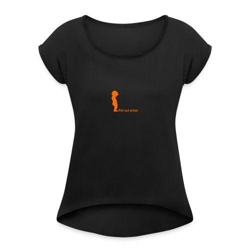 ket - T-shirt à manches retroussées Femme