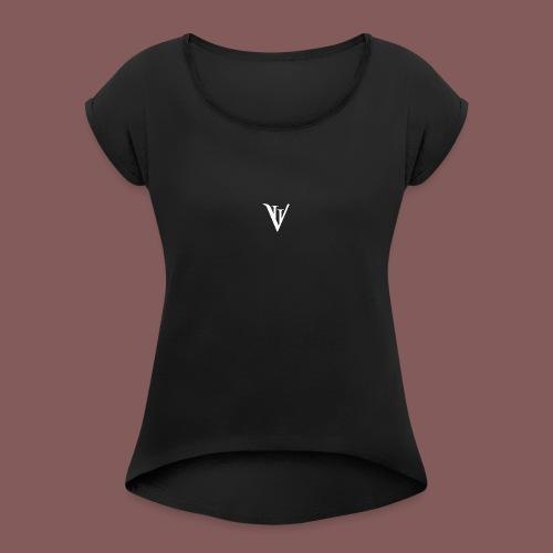 VII blanc - T-shirt à manches retroussées Femme