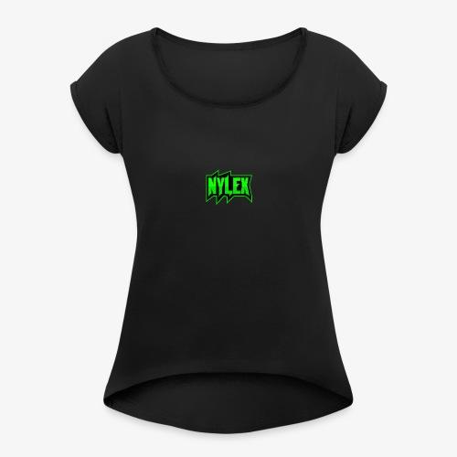 Team Nylex Logo - Frauen T-Shirt mit gerollten Ärmeln