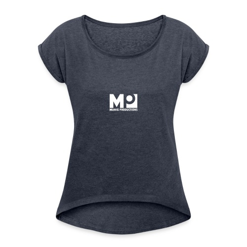 ManigProductions White Transparent png - Women's T-Shirt with rolled up sleeves