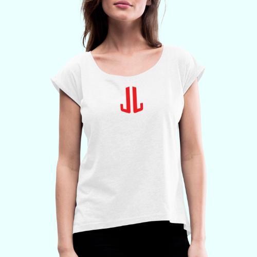 BodyTrainer JL - Naisten T-paita, jossa rullatut hihat