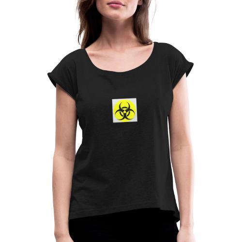 Gefahr - Frauen T-Shirt mit gerollten Ärmeln