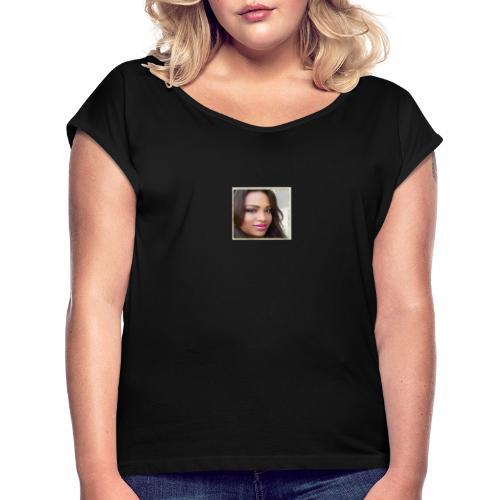 Explendor - Camiseta con manga enrollada mujer
