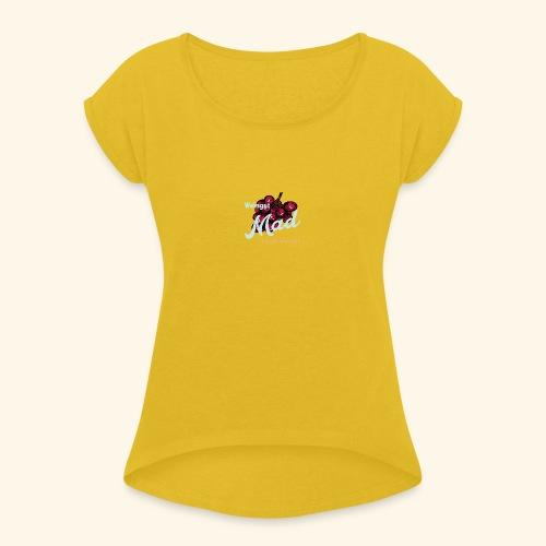 Rote Traube - Frauen T-Shirt mit gerollten Ärmeln