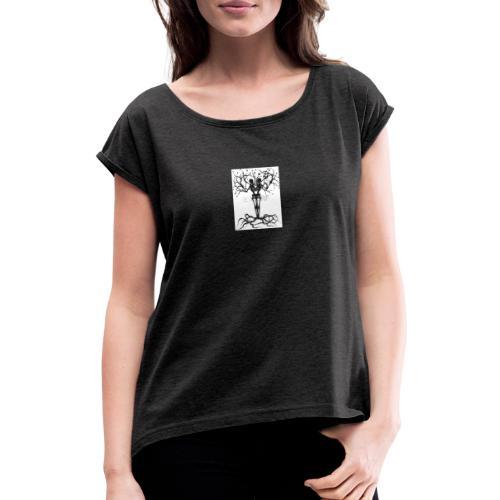 IMG 0094 - Frauen T-Shirt mit gerollten Ärmeln