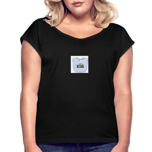 anicci king bavoir - T-shirt à manches retroussées Femme