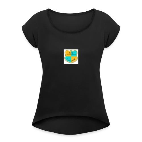 STG Vienna Kickers Logo - Frauen T-Shirt mit gerollten Ärmeln