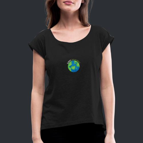 Slippy's Dream World Small - Women's T-Shirt with rolled up sleeves
