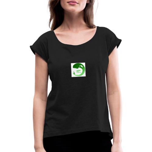 350 Aalborg logo - Dame T-shirt med rulleærmer
