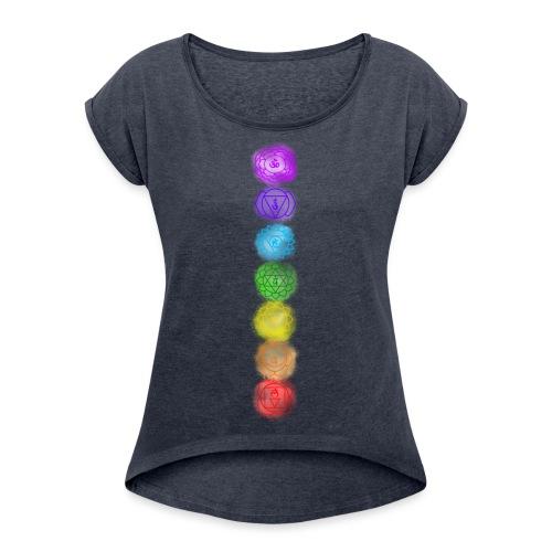 linea chakra - Maglietta da donna con risvolti