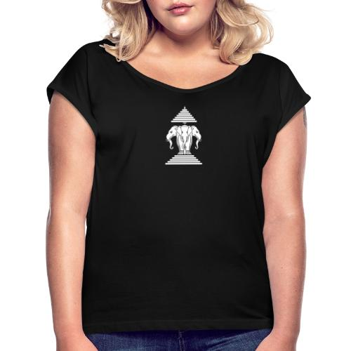Kingdom of Lao - T-shirt à manches retroussées Femme