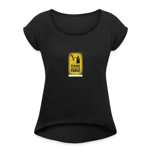 david acosta 3 - Camiseta con manga enrollada mujer