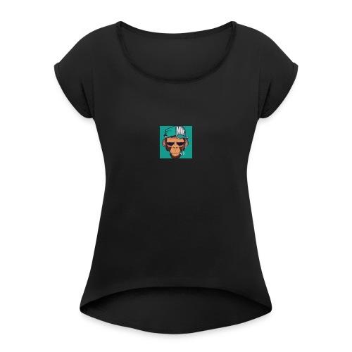 Første tshirte gratis - T-skjorte med rulleermer for kvinner