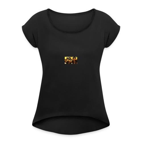 cunter blox lille logo køb buy - Dame T-shirt med rulleærmer