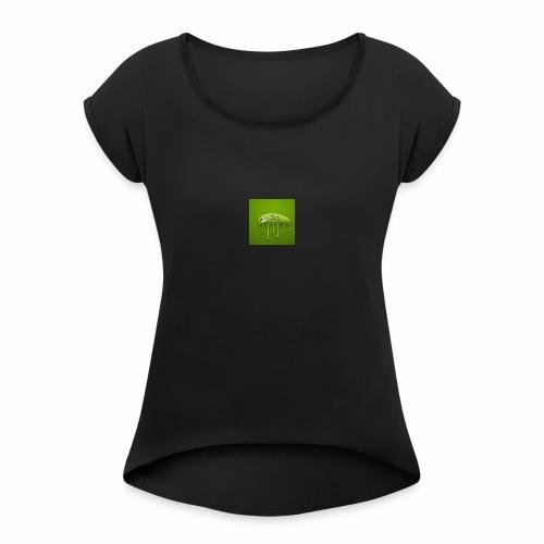 Raksos Logo - Dame T-shirt med rulleærmer