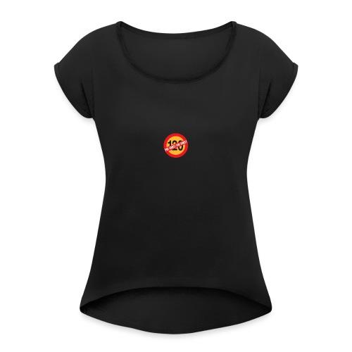 Fri fart - T-shirt med upprullade ärmar dam
