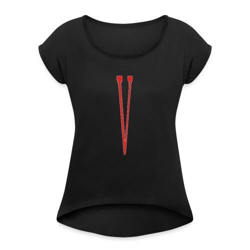 Vlone - Frauen T-Shirt mit gerollten Ärmeln