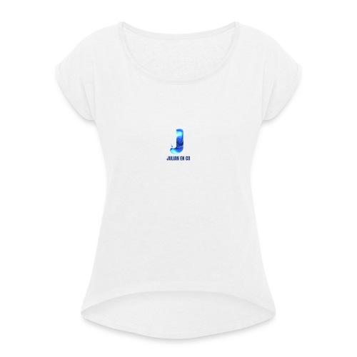 JULIAN EN CO MERCH - Vrouwen T-shirt met opgerolde mouwen