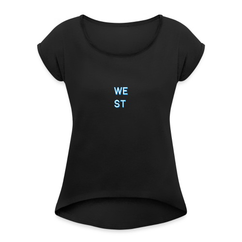 WEST LOGO - Maglietta da donna con risvolti