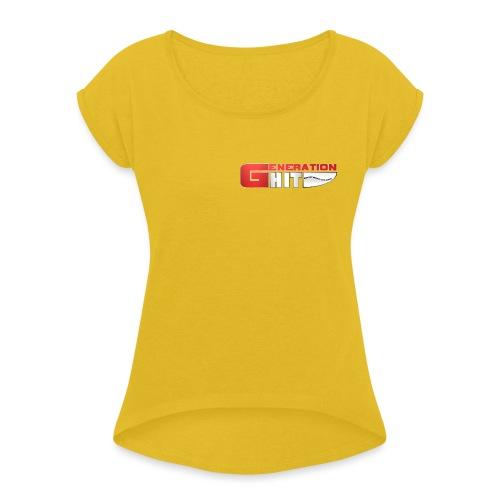 Generation-Hit - T-shirt à manches retroussées Femme